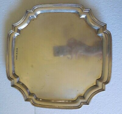 Vintage Footed Sheffield Sterling Silver Tray 1944 Pinder Brothers Hallmark