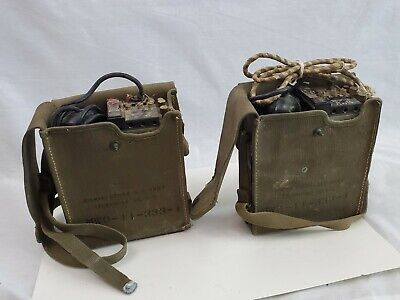 Vintage Ww2 Field Telephones Us Army Ee 8 B Mwo 11 333 1 Millitary Signal Corps