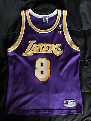 purchase cheap 6b07d a96cc NEW KOBE BRYANT Throwback ROOKIE Jersey #8 Los Angeles ...