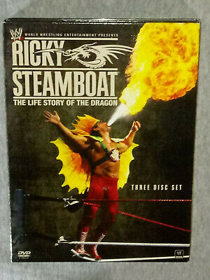 Wwe Ricky Steamboat The Life Story Of The Dragon Dvd 3 Disc Set Good Condition!
