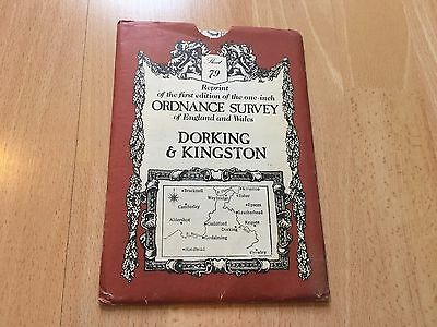 Dorking & Kingston Ordance Survey Map England Wales Vintage One inch