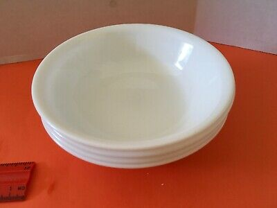 Corelle Winter Frost White 5-3/8 in Berry Bowls Fruit Dessert Dishes Set of 4