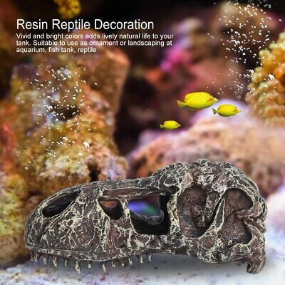 Resin Skull Aquarium Decoration Terrarium Reptile Cave Fish Tank Ornament 5 Type