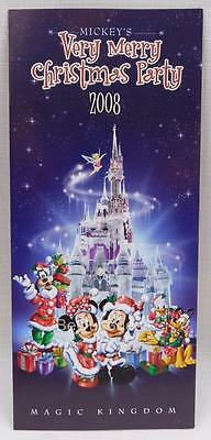 Disney Mickey's Very Merry Christmas Party Guide Map 2008 New
