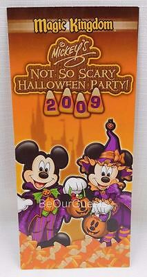Disney Mickey's Not So Scary Halloween Party Guide Map 2009 New