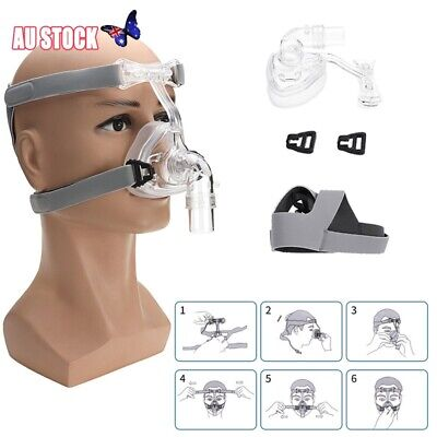 CPAP Mask Full Face Nasal Mask Resmed Sleep Snore Respirator Strap with Headgear