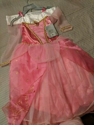 NWT Disney Store Aurora Sleeping Beauty Dress Costume Shoes 2//3 Girls