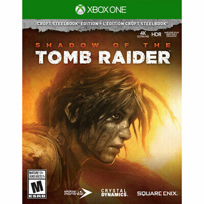 Brand New Shadow of the Tomb Raider Croft Steelbook Edition - Xbox One