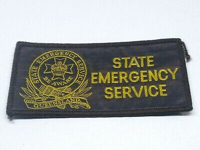 Collectable State Emergency Service Queensland Patch / Badge 100Mm X 50Mm