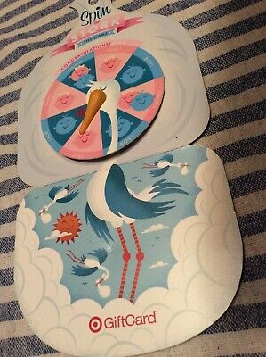 RARE Spin The Stork Game Collectible 2009 Target Gift Card (No $ Value) BABY