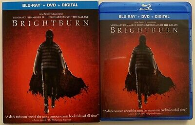 Brightburn Blu Ray Dvd 2 Disc Set + Slipcover Sleeve Free World Wide Shipping