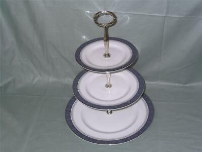 Royal Doulton Sherbrooke 3-Tier China Hostess Cake Plate Stand H5009