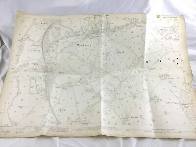 1910 Antique Map of Sussex Mayfield Village Five Ashes High Weald Old Copy