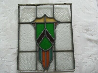 Vintage Original Stained Glass Panel Window