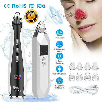 All in 1 Electric Blackhead Remover Face Skin Pore Cleaner Vacuum Acne Cleanser