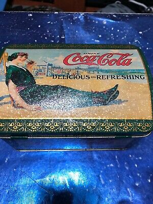 Vintage Rounded Top Coca-Cola Tin 1995