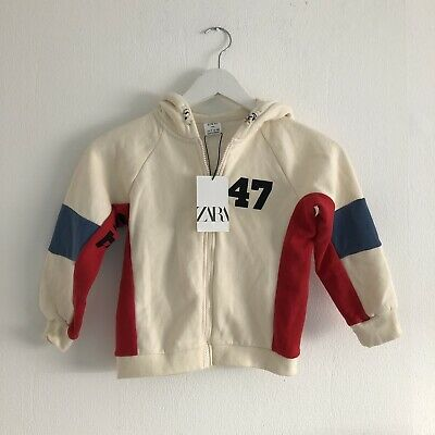 Zara Kids Girls Slogan Hoodie Jumper Top Size Age 7 Years New With Tags