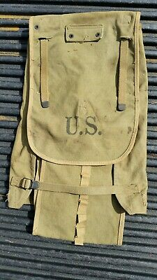 Vintage WWII WW2 Original Period US Military Haversack G. & R. Co. 1942