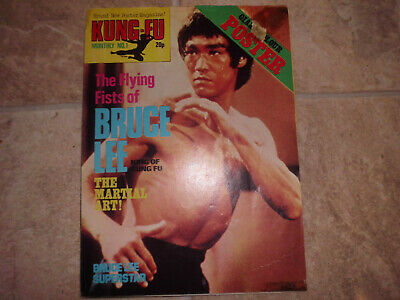 BRUCE LEE Kung Fu Monthly  poster magazine  No 1 @
