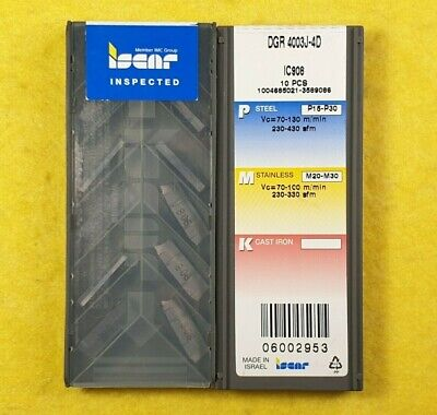 ISCAR DGR 2000ZS-6D  IC908-10 Inserts