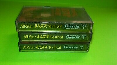 Reader's Digest All-Star Jazz Festival Set of 3 Cassette Tapes 1 Sealed 1978