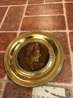 Tchaikovsky Solid Brass Made In England Music Composer Hang Plate FREE SHIPPING
