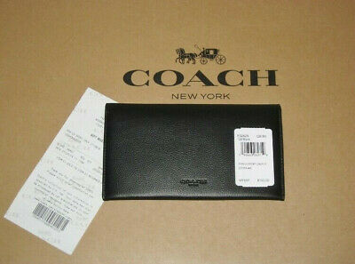 🌹NWT Coach F32624 Unisex Cell Phone Universal Sport Calf Leather Wallet Black