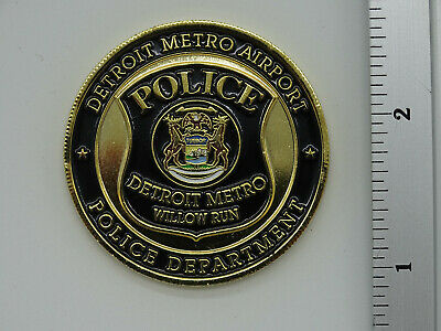 Detroit Metro Airport Willow Run Police Dept. Challenge Coin NEW
