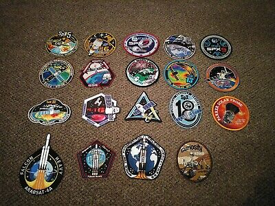 SPACEX NASA x19 mission patches (spx, Falcon heavy, Parker probe, curiosity)