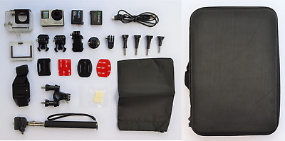 GoPro Hero 4 Silver 4K Ultra HD Action Camera + Accessories + Spare battery