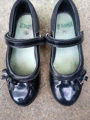 Clarks Girls Patent Leather School Shoes Size 12.5F