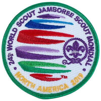 2019 Wsj World Scout Jamboree On Site Official Green Border Patch