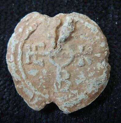 Ancient Byzantine Lead Seal High Grade -3-