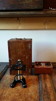 Antique Brass Dissecting Pillar Microscope - Watson & Sons London - Cased