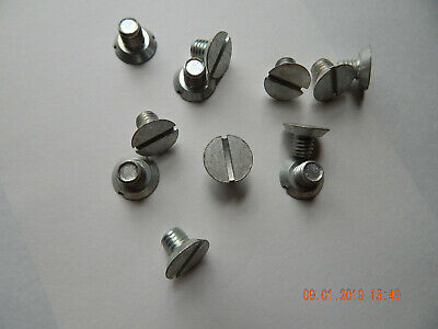 "FLAT HEAD SLOTTED MACHINE SCREWS UNDERCUT  3/8-16 x 1/2"" ZINC. 12 PCS. NEW-NOS"