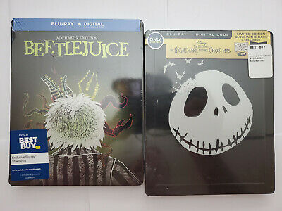Tim Burton's Beetlejuice Blu-ray, no digital + Nightmare B4 Christmas STEELBOOKS