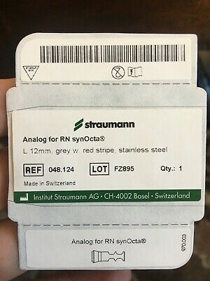 NEW! Straumann Analog for RN synOcta L 12 mm grey with red stripe