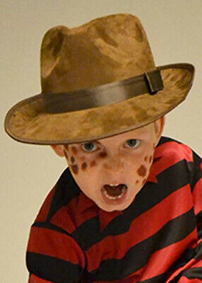 Magic Box Childrens Freddy Krueger Style Brown Fedora Hat childrens (one size)
