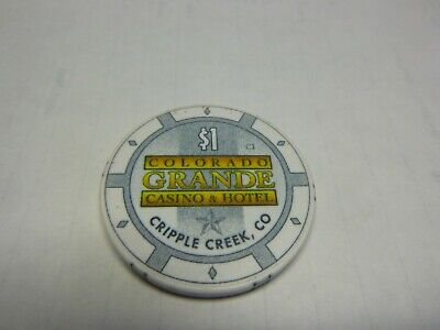 # 22 Casino Poker Chip} Colorado Grande- Cripple Creek Colo.    Rare