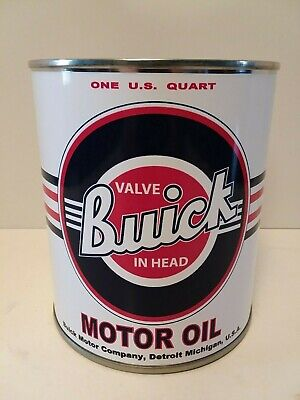 Vintage Buick Motor Oil Can 1 qt - (Reproduction Tin Collectible)