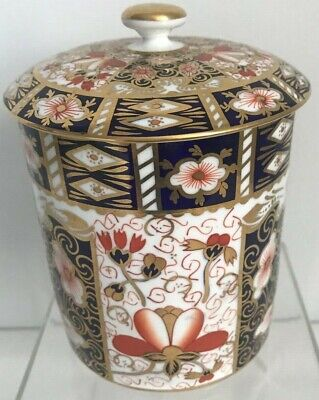 Rare Royal Crown Derby 2451 Or Traditional Imari Condiment Jar - Date Code 1917