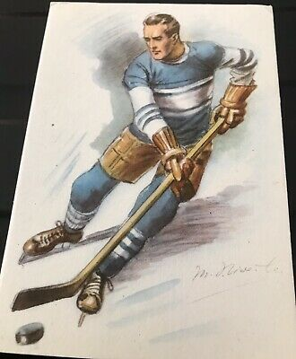 CZECH ICE HOCKEY Vintage postcard Excellent Condition