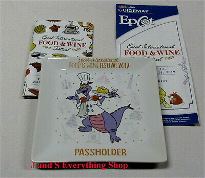 2019 Epcot Food and Wine Festival Passholder Figment Saucer / Plate Disney