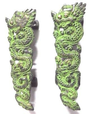 Dragon Design Antique Vintage Style Handmade Brass Door Handle Pull Home Decor