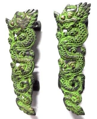 Dragon Shape Antique Vintage Style Handmade Brass Door Pull Handle Set Knobs