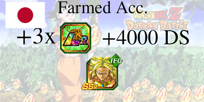 Dokkan Battle🌟TEC Broly + 3 LRs + 4600 DS🌟Farmed Japan Account