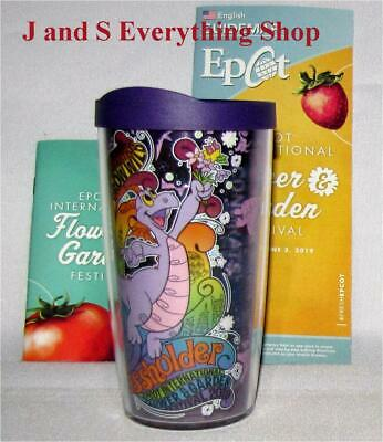 2019 Epcot Flower and Garden Festival Figment Passholder Cup Glass Disney NEW