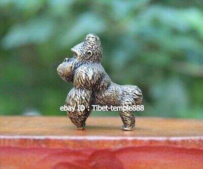 4.5 cm pure Copper Bronze China lucky Animal chimpanzee orang-utan Monkey Statue