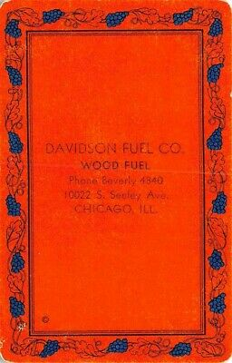 Davidson Fuel Co Chicago IL Illinois Single Swap Old Playing Card Vintage Ad
