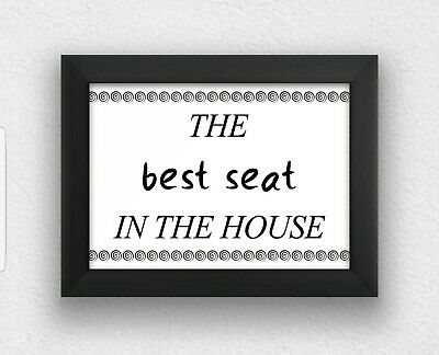 Typography A4 (PRINT ONLY)funny  toilet/bathroom/washroom picture wall art